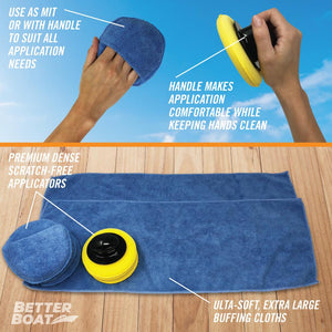 Microfiber Wax Applicator Set Directions and Use