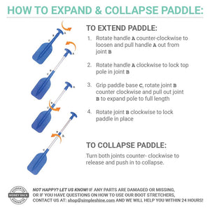 Mini Telescoping Paddle Instructions