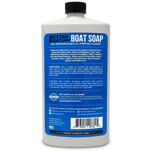 Premium Boat Soap Concentrate Back of Bottle