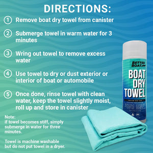 Synthetic Chamois Dry Towel Instructions of Use