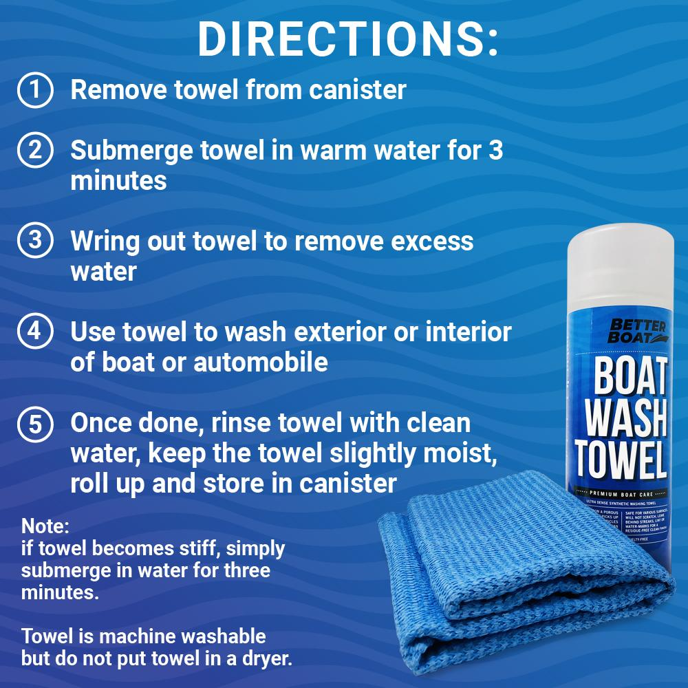 Load image into Gallery viewer, Synthetic Chamois Wash Towel Directions to Wash and Clean