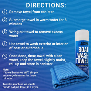 Synthetic Chamois Wash Towel Directions to Wash and Clean