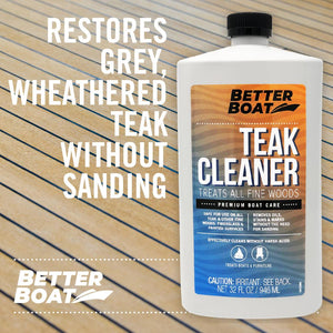 Teak Cleaner on a Wood Deck