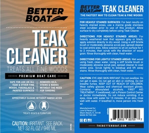 Teak Cleaner Label and Directions