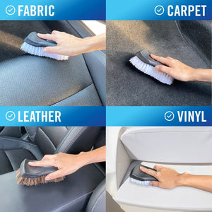 Upholstery Brush Set for fabric carpet leather and vinyl