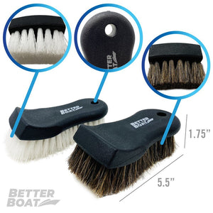 Upholstery Brush Set Horse Hair and Nylon