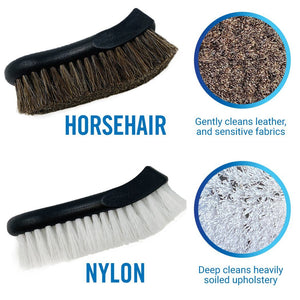 Upholstery Brush Set Bristles thick nylon and horeshair