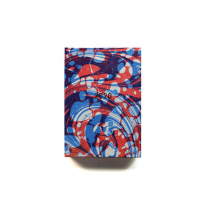 2020 Diary - Pocket - Blue/Red Double-Marble
