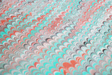 Large Sheet - Pink & Aqua in Non-Pareil