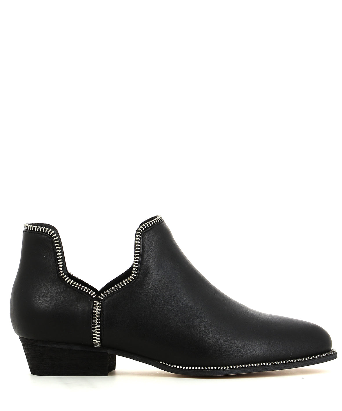 Black Leather Ankle Boots - Senso