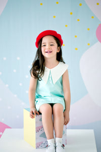 Playdress with Oversized Collar (Mint) - MILLAROLLA