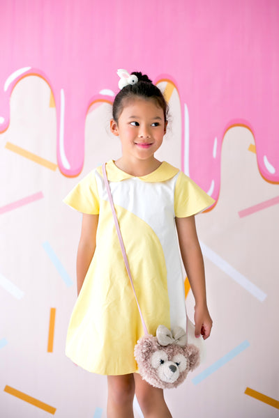 Mini Dress with Bubble Skirt (Yellow) - MILLAROLLA