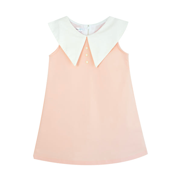 Playdress with Oversized Collar (Peach) - MILLAROLLA
