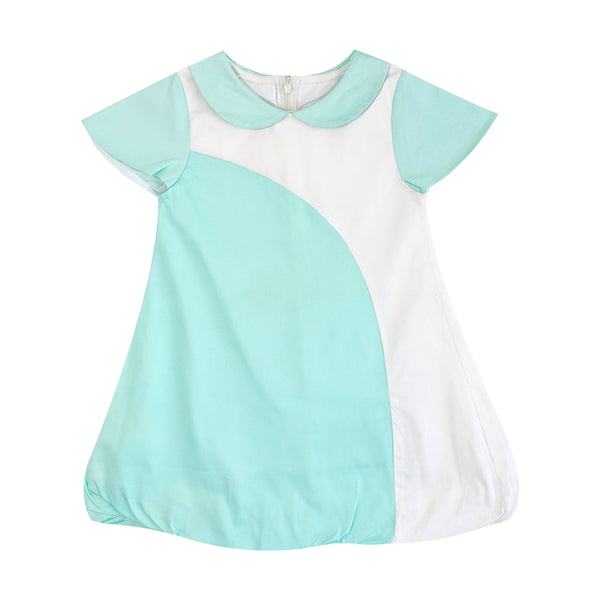Mini Dress with Bubble Skirt (Mint) - MILLAROLLA