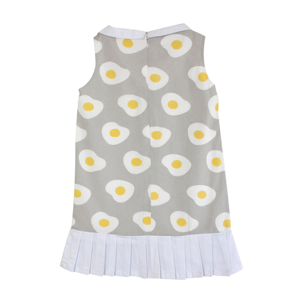 Egg-venture Dress with Pleated Skirt (Gray) - MILLAROLLA
