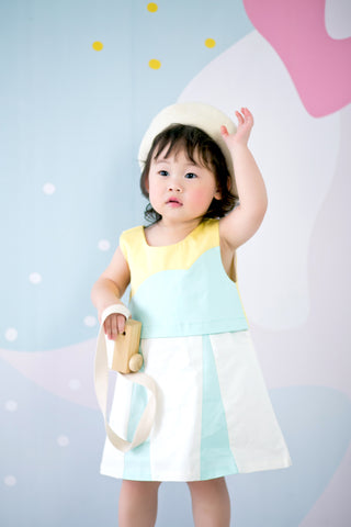 Sleeveless Dress with Cloud Detail (Mint) - MILLAROLLA