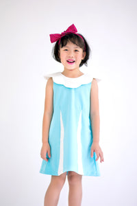 Sleeveless Dress with Scallop Collar (Blue) - MILLAROLLA