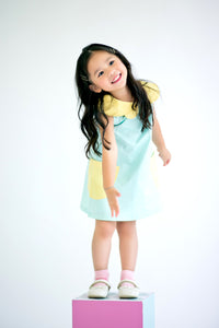 Quirky Mini Dress with Butterfly Collars (Mint) - MILLAROLLA