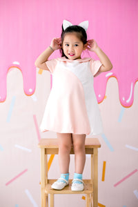 Mini Dress with Bubble Skirt (Peach) - MILLAROLLA
