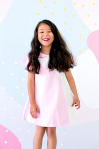 Mini Dress with Bubble Skirt (Pink) - MILLAROLLA
