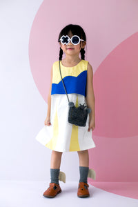 Sleeveless Dress with Cloud Detail (Blue) - MILLAROLLA