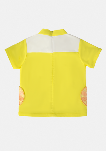 CNY Edition - Shirt with Orange Pockets (Yellow) - MILLAROLLA