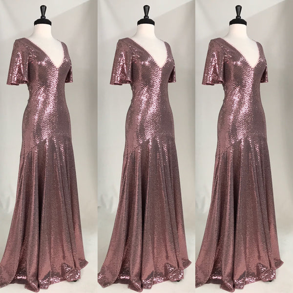 Ruby Sequin Gown
