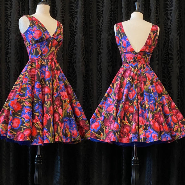 Audrey Dress - Iris Print