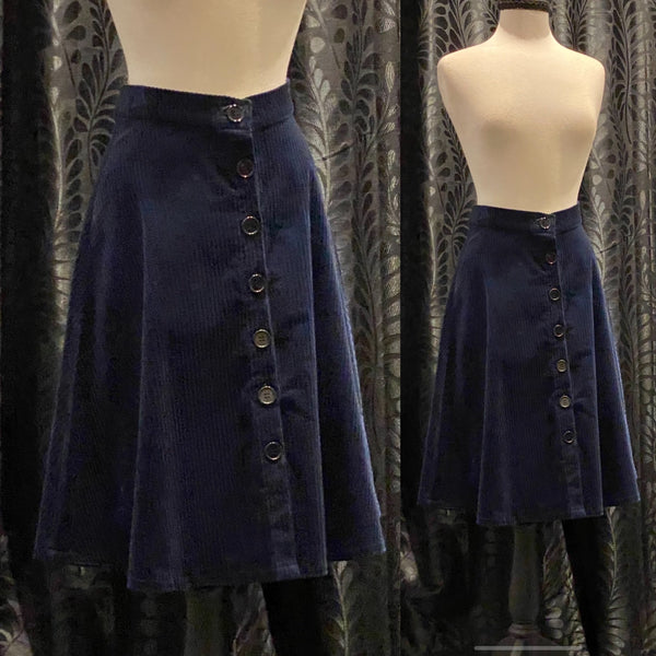 Jan Skirt - Blue Corduroy