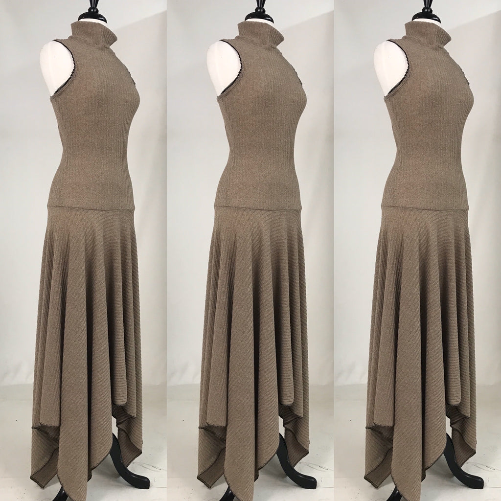 Margo Racerback Dress - Taupe