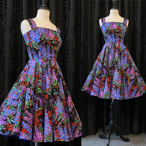 Laura Cocktail Dress - Dark Floral