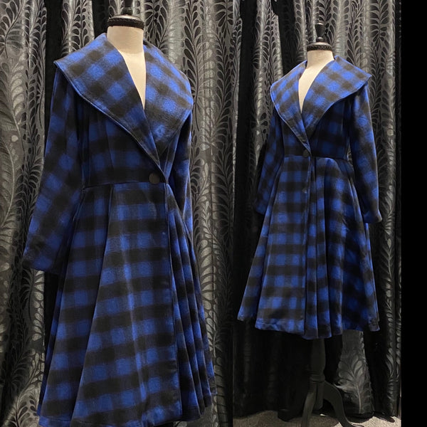 Evelyn Coat - Blue Buffalo Check