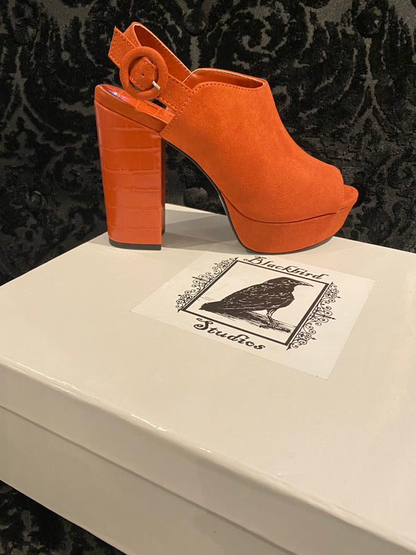 Alisha Platform Shoes- Brick