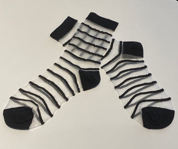 Socks - Sheer Striped