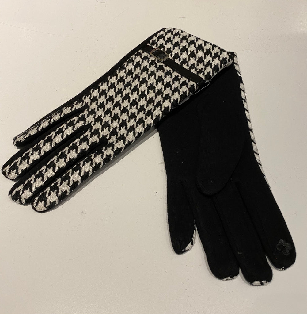 Gloves - Houndstooth