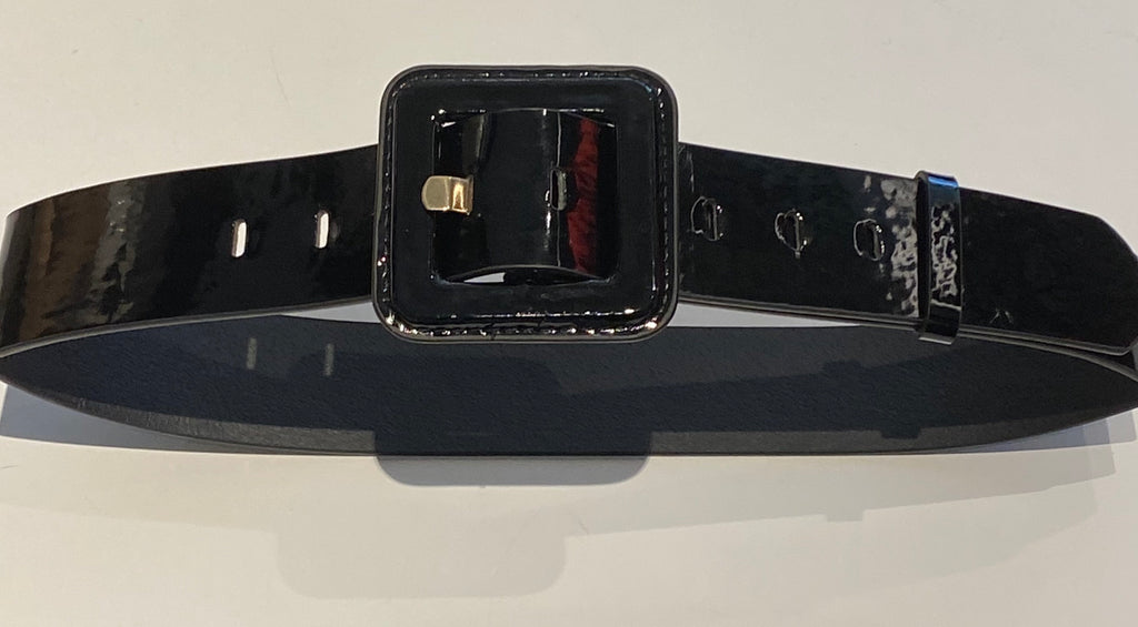 Patent Belt - Black