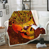 GOLDEN SKULL FLEECE BLANKET