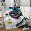 GRAFFITI BEAUTY FLEECE BLANKET