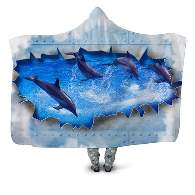 DOLPHIN HOODED BLANKET
