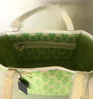 Lime & White Lexington Avenue Lizzy Handbag