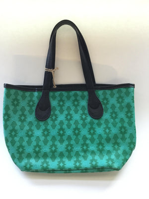 Lexington Avenue Lizzy Teal and Black Handbag
