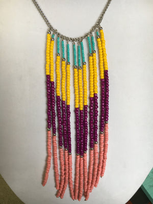 Necklace W. Multicolor Beads