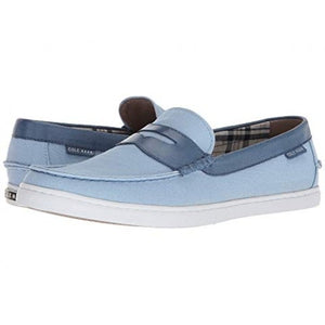 Cole Haan Nantucket Loafer II Chambray Blue Canvas