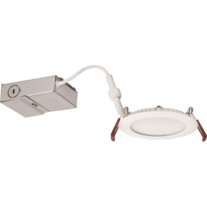 Lithonia Lighting Wafer 4 in. White Integrated LED Recessed Kit