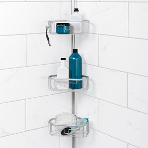 Glacier Bay Rustproof Tension Pole Shower Caddy