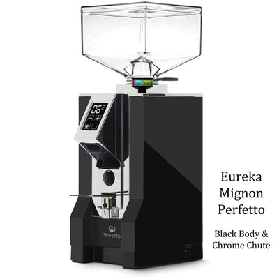 Eureka Mignon Perfetto - Black Body Chrome Chute