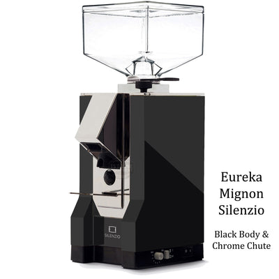Eureka Mignon Silenzio - Black Body Chrome Chute