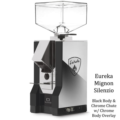 Eureka Mignon Silenzio - Black Body Chrome Overlay Chrome Chute