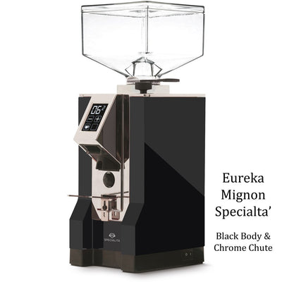 Eureka Mignon Specialita - Black Body & Chrome Chute