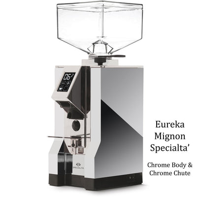 Eureka Mignon Specialita - Chrome Body & Chrome Chute